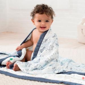 8折无税 官网都没这个价新品上市:Aden + Anais 宝宝纱布包巾、纱布毯、口水巾等特卖