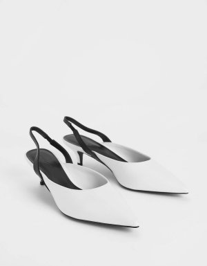 黑白小跟鞋