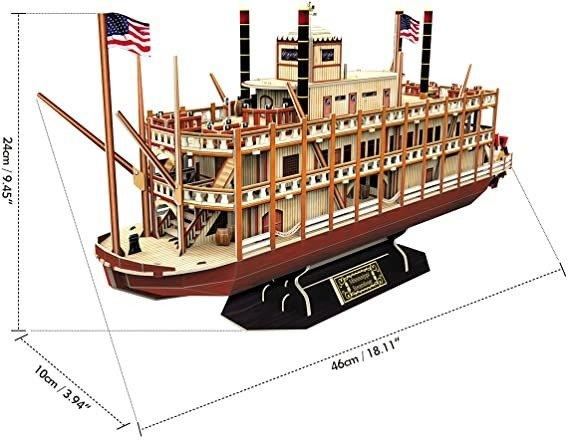 3D拼图船