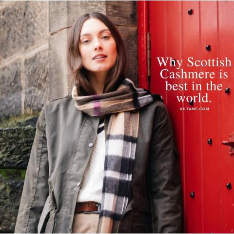格纹围巾£8.9起苏格兰围巾打折&折扣 | 羊毛围巾推荐/英国小众围巾品牌汇总