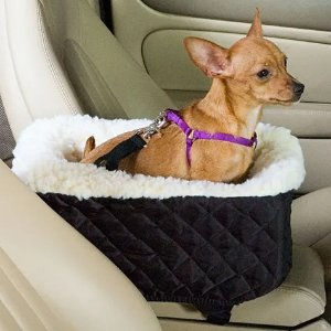 Snoozer Black Pet Car Seat Console Lookout, Small | Petco