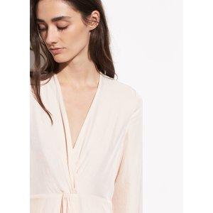 VinceTwist Drape Long Sleeve Dress