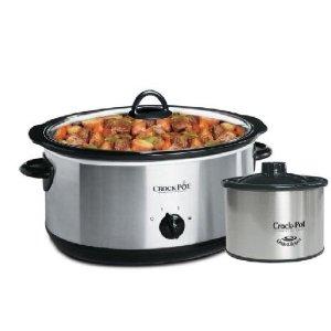 $39.93 包邮(原价$52.97)史低价:Crock-Pot 7.6L不锈钢慢炖锅两件套 热fufu营养 咕嘟咕嘟