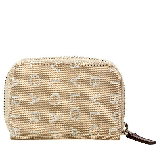 Beige Fabric And Brown钥匙卡包
