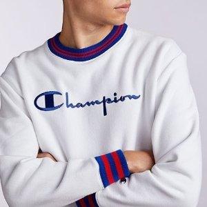 低至4.5折 $28.87收logo卫衣Champion专场 时尚达人网红服饰热卖