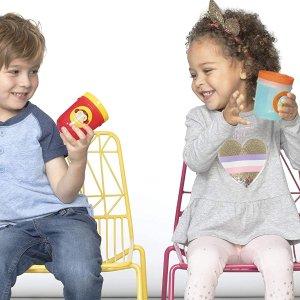 $9.5(原价$14.02)Skip Hop 幼儿吸管杯、动物园图案不倒翁杯,2 件装