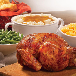 w/ any Family Meal PurchaseBoston Market Whole Rotisserie Chicken for Free