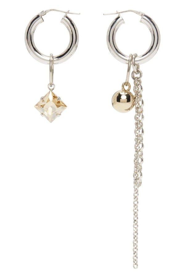 Queen 银色耳环