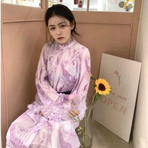 Ganni紫罗兰连衣裙