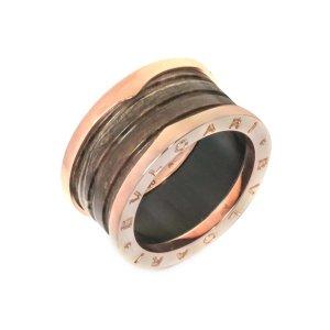 Bvlgari18k Rose Gold B.zero 4 Band Ring AN856226- Sz 6.5