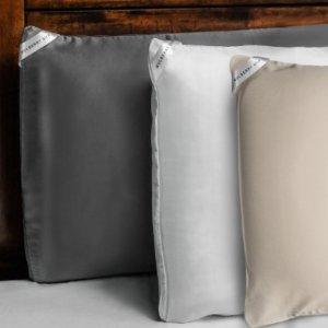 NIGHT 桑蚕丝/竹纤维 双面美容枕套2个