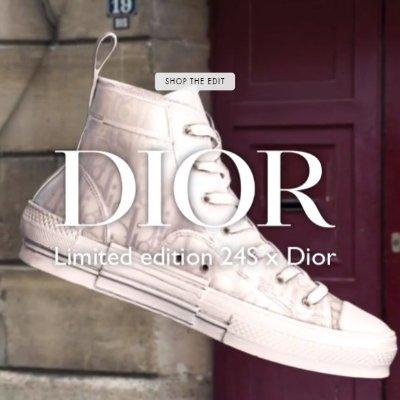 独家合作 £830买不了吃亏买不了上当DIOR X 24S 限定联名款 高帮印花Sneakers收入囊中