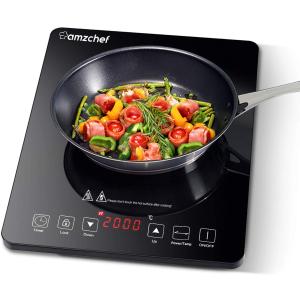 售价€42.49+包邮Amzchef 2000W电磁炉 炒菜做饭吃火锅必备
