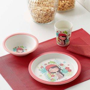 Simons Maison海盗女孩 竹纤维餐具3件套