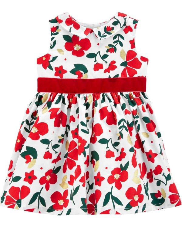 婴儿花朵礼服裙