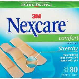 $4.27(原价$5.99)Nexcare 舒适透气创可贴80张 不含乳胶粘性好
