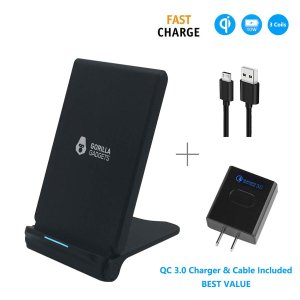 Gorilla Gadgets Fast Wireless Charger (with QC 3.0 Adapter)