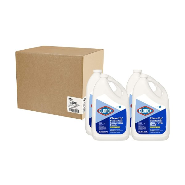 Clorox 多用途杀菌消毒清洁剂,含漂白水成分4瓶X128oz