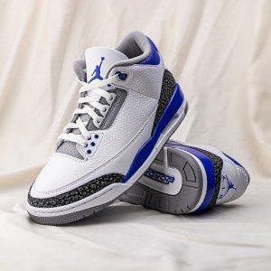 7月17日发售 定价€189.99Nike Air Jordan 3 「小闪电」即将上线 清爽蓝白色+3M细节反光