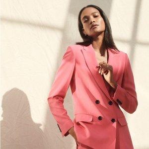 额外7折 OL必败阔腿裤$20Donna Karan 折扣区热卖 DKNY主线 系带西装、优雅连衣裙$41