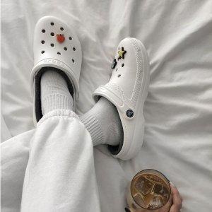 4折起+额外7.5折 大童款$22Crocs官网 可以DIY的洞洞鞋热促 好穿又显高 入股不亏