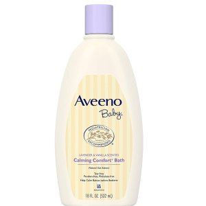 Aveeno Baby Calming Comfort Bath with Relaxing Lavender & Vanilla Scents