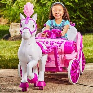 $98Huffy 迪士尼公主 6V 电动马车玩具