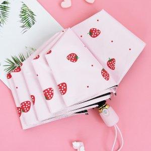 5.3折 现价仅€10.16防紫外线遮阳伞哪儿找?快来看看这把小草莓自动伞!