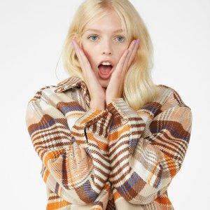 新用户9折 £20收姜黄色针织衫 £50收长风衣Monki 全场冬季美衣美鞋热卖 少女风美衣不过百