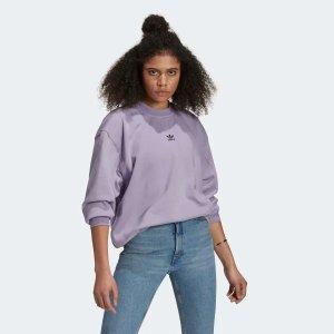Adidas爆款新色!新款香芋紫卫衣