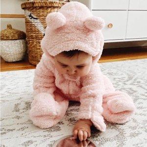 低至7折Carters 加绒加厚宝宝衣上线 愿你三冬暖 摇粒绒连体$10+