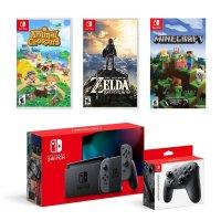 Nintendo Switch 灰色续航版超级套装