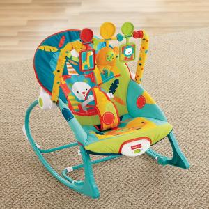 $26.09从新生儿一直使用到40磅Fisher-Price 费雪多功能摇篮/幼儿摇椅
