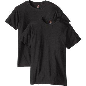 $14.4(原价$29.9)白菜价:Hanes 男士 Premium 纯棉T恤 2包装 L码