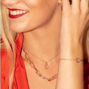 全场7.5折+满£200享7折黑五价:Monica Vinader 粉晶专场 戒指、耳饰、手绳全年最低