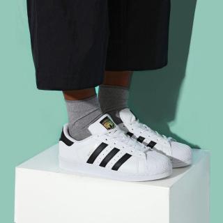 黄金尺码降至¥327Adidas  Superstar 金标小白鞋 大童成人可穿