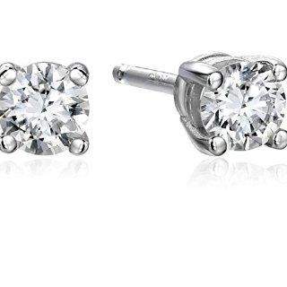 $149.14 (原价$248.57)1/4克拉钻石14K白金耳钉