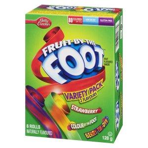 $1.79( (原价$3.29)Betty Crocker Fruit by The Foot天然维生素果汁卷 6个装 (3种可选)