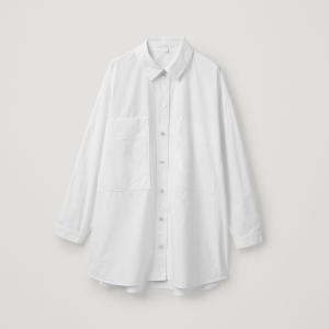 RELAXED COTTON SHIRT - White - Blouses - COS