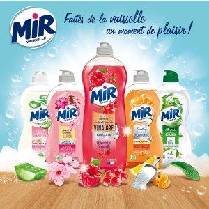 5折起 白菜价€1超大瓶Mir Vaisselle 香气宜人的洗洁精 保护敏感手部皮肤 去除顽固油脂