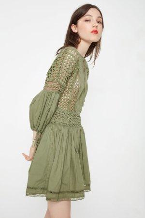 Endless Rose Flared Crochet Panel Dress