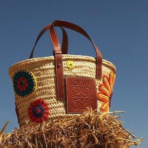 6折+额外9折 到手¥4500折扣升级:Loewe 新款太阳花菜篮子,六月好心情一起去野餐吧