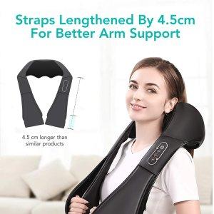 $59.99包邮(原价$79.99)Naipo 深层指压电动按摩器 颈肩、后背、双腿都可用 缓解酸痛