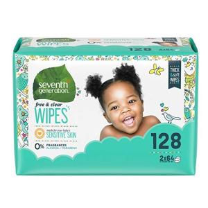 $8.24(原价$12.46)Seventh generation 宝宝湿纸巾补充装(128片)