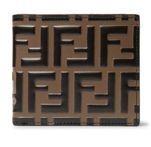 Fendi Men's FF Embossed Leather Bifold Wallet
