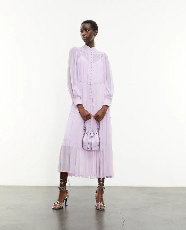 香芋紫长裙