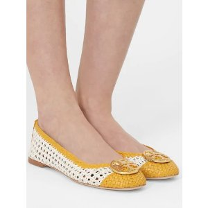 Tory Burch10MM CHELSEA WOVEN LEATHER BALLERINAS