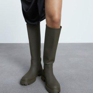£49就收过膝靴ZARA 秋冬新款靴子上架 帅气大牌设计 断码超快速抢