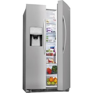 Frigidaire FGSC2335TF 36 Inch Counter Depth Side-by-Side Refrigerator with Smudge-Proof™ Stainless Steel, PureSource® Filtration, Store-More™ Shelves, Store-More™ Gallon Bins, Store-More™ Drawers, Chill Drawer, ADA Compliant and Star K Certified: Stainless Steel