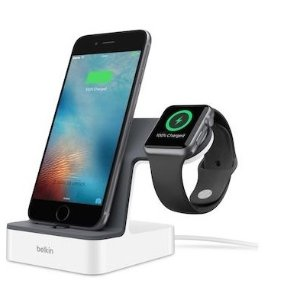 $98 (原价$104)方便2合1Belkin Powerhouse  iPhone和iWatch充电插座